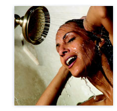 Hot water for showers